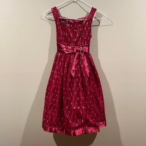 LOVE by Special Occasions Burgundy Sparkling Dress